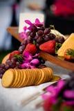 Queijo e biscoitos Imagem de Stock
