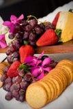 Queijo e biscoitos Foto de Stock Royalty Free