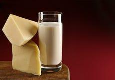 Queijo e leite Imagem de Stock Royalty Free