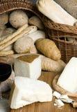 Queijo e pão 3 Imagens de Stock