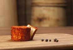 Queijo e pimentas Fotos de Stock