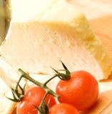 Queijo e tomate Foto de Stock Royalty Free