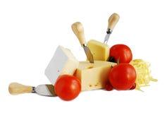 Queijo e tomates Foto de Stock