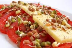 Queijo e tomatoe Fotos de Stock