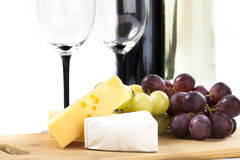Queijo e uvas Imagem de Stock Royalty Free