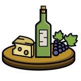Queijo e uvas do vinho Foto de Stock Royalty Free