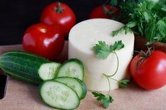 Queijo e vegetais Imagem de Stock Royalty Free