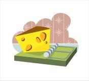 Queijo em um mousetrap Foto de Stock