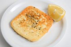 Queijo fritado foto de stock