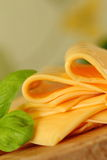 Queijo processado com verdes Imagem de Stock