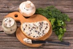 Queijo processado dos cogumelos Foto de Stock Royalty Free