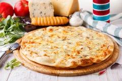 Queijos da pizza quatro Imagem de Stock Royalty Free