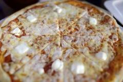 Queijos da pizza quatro Fotos de Stock Royalty Free