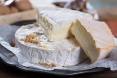 Queijos macios franceses - camembert, marcaire, Munster, brie - delic Imagem de Stock Royalty Free