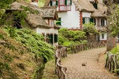 Queimadas - case al levada Foresta tropicale nelle montagne sull'isola del Madera Immagine Stock Libera da Diritti