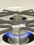 Queimador da cozinha do Lit Imagem de Stock