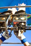 Queimador de gás para o baloon fotografia de stock royalty free