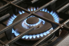 Queimador do fogão de gás Imagens de Stock Royalty Free