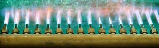 Queimador do pré-aquecimento no trabalho Fotografia de Stock