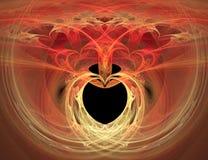 Queimadura de coração foto de stock
