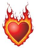 Queimadura de coração ilustração stock