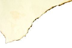 Queimadura de papel Fotografia de Stock