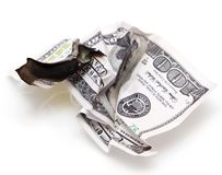 Queimadura de 100 USD Foto de Stock