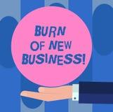 Queimadura do texto da escrita do negócio novo Uma quantidade do significado do conceito de dinheiro mensal do dinheiro a empresa ilustração stock