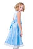 Queimadura manhoso bonito da menina no partido isolado no branco Fotografia de Stock
