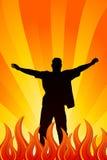 Queimadura no incêndio ilustração royalty free