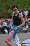 Queimaduras de Jonathon, festival dos Buskers do mundo Imagem de Stock