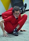 Queimaduras de Jonathon, festival dos Buskers do mundo Foto de Stock