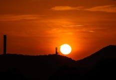 Queimando o sol Fotografia de Stock Royalty Free