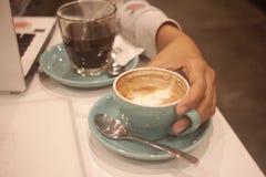 Queira juntar-se ao coffe imagens de stock