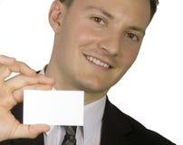Queira meu cartão? Fotos de Stock Royalty Free