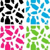 Queira ordenhar, projeto ajustado dos testes padrões do frasco de leite da vaca Imagens de Stock