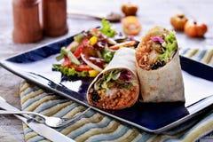 Queiro mexicano do camarão dos burritos da culinária Imagens de Stock Royalty Free