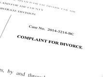 Queixa para o divórcio imagens de stock