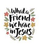 Quel ami nous avons en Jésus illustration stock