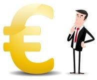 Quel contrat à terme pour l'euro devise ? Images stock