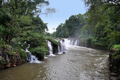 Quel Phasuam, Phasuam waterfal in Pakse, Laos Immagine Stock