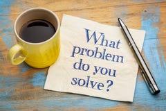 Quel problème résolvez-vous ? photos stock