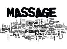 Quel un peu massage est exact pour vous nuage de Word Photos libres de droits