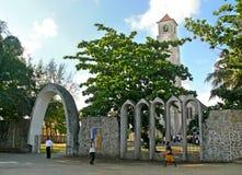 QUELIMANE, MOZAMBICO - 7 DICEMBRE 2008: La costruzione di chiesa. Fotografie Stock Libere da Diritti