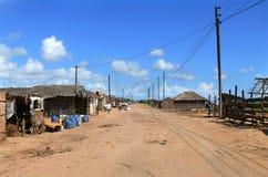 QUELIMANE, MOZAMBICO - 7 DICEMBRE 2008: Via della città. Fotografia Stock Libera da Diritti