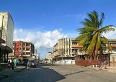 QUELIMANE, MOZAMBICO - 7 DICEMBRE 2008: Via della città. Fotografie Stock Libere da Diritti