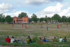 QUELIMANE, MOZAMBIQUE - 7 DECEMBER 2008: Football match. Stock Photo