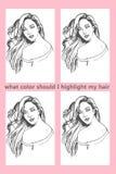 Quelle couleur j'accentuent ma photo de coloration de cheveux Photos libres de droits