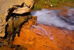 Quelle des Mineralwassers Stockfotos