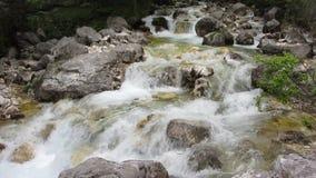 Quelle des Wasserfalls Izvor Soce stock footage